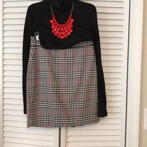 NWOT Never Worn Plaid Wool Skirt